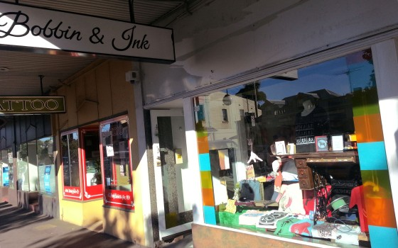Bobbin and Ink Shop Front